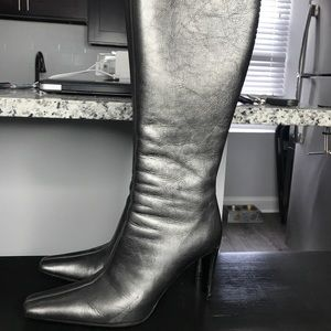 Donald J Pliner couture antique metallic boots